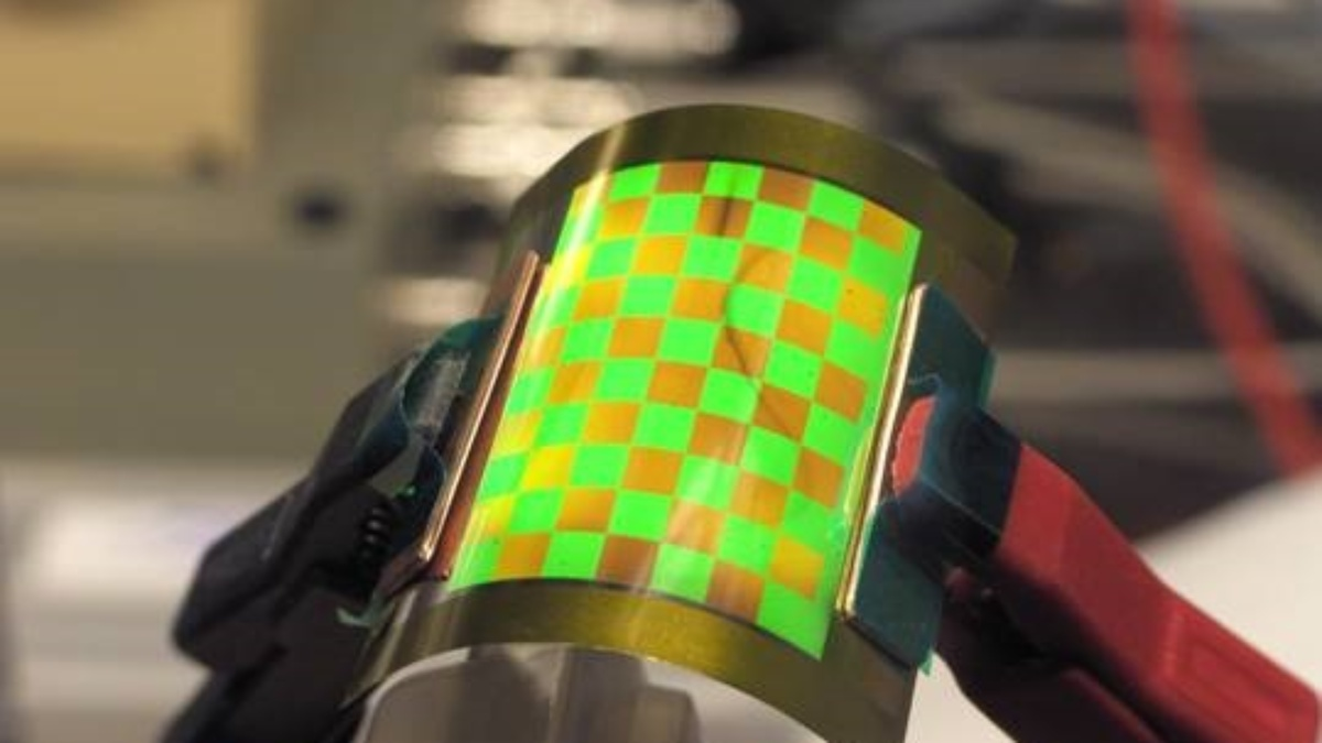 Flexible, mehrfarbige OLED  (c)